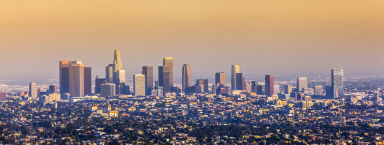Los Angeles in sunset